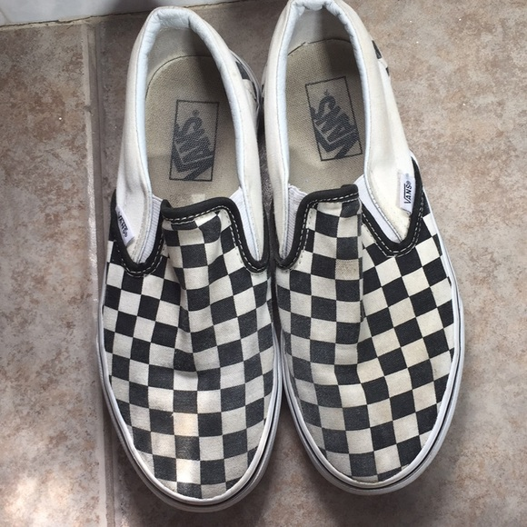 Vans Shoes | Checkered Slightly Faded